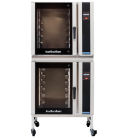 Turbofan E35T6-30/2C - Full Size Electric Convection Oven Touch Screen Control with Castor Base Stand Double Stacked
