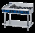 Blue Seal G518C-LS 6 Burner, 300mm Griddle Plate Gas Cooktop - Leg Stand