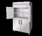 Hoshizaki HFE-127B-AHD-ML Stainless Steel Pillarless Two Split Door  Upright Freezer, 1110L