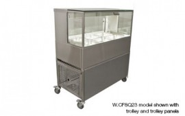 Woodson W.CFSQ23 3 Module Square Cold Food Display