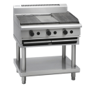 Waldorf 800 Series CHL8900G-LS - 900mm Gas Chargrill Low Back Version Leg Stand